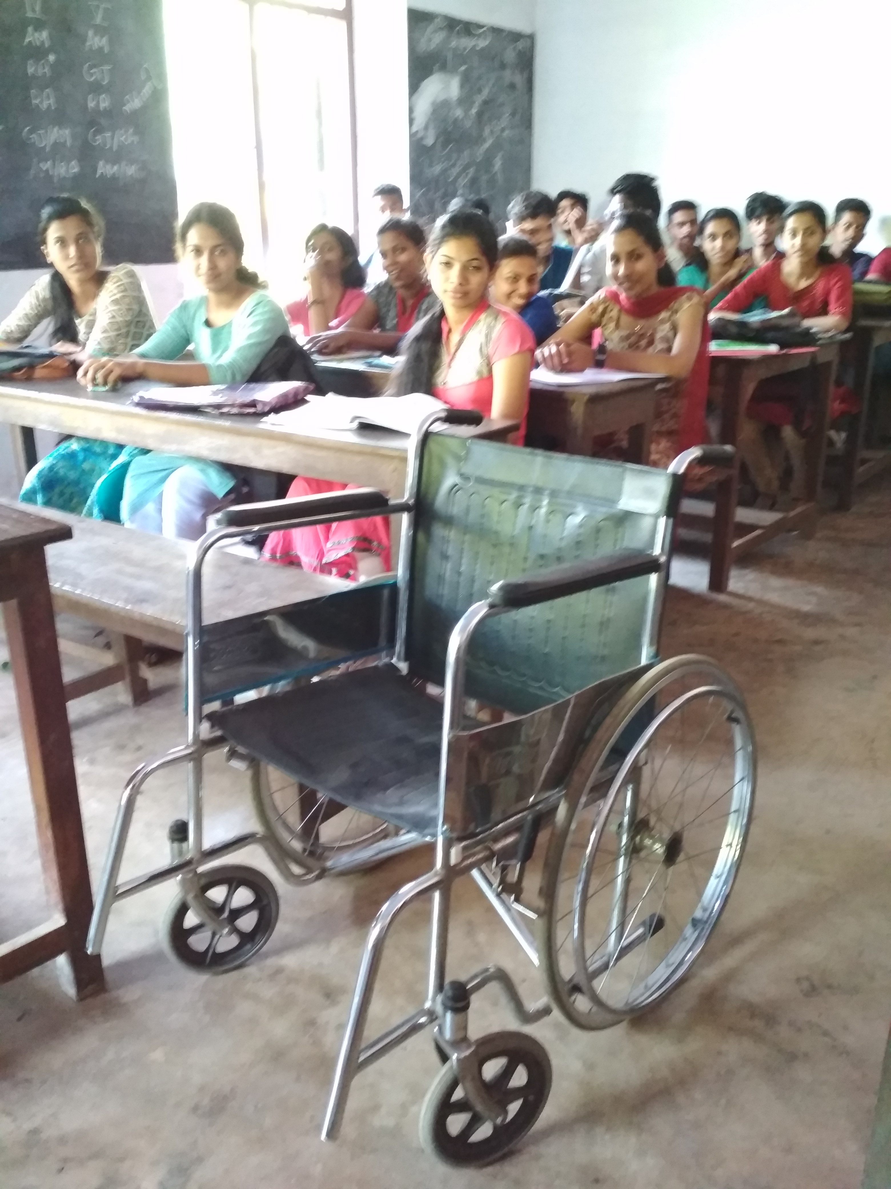 Wheelchair facility in classrooms